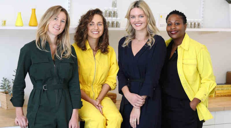 From left to right: COO Elizabeth Reifsnyder; Founder and CEO Katerina Schneider; VP of Partnerships, PR, and Community Lauren Kleinman; and VP of Program Management, Kadie Ann Bowen