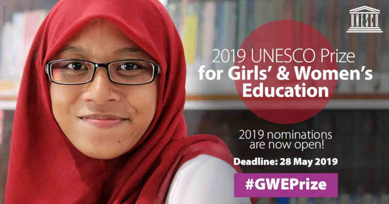 Nominations Invited for UNESCO Prize for Girls' and Women's Education