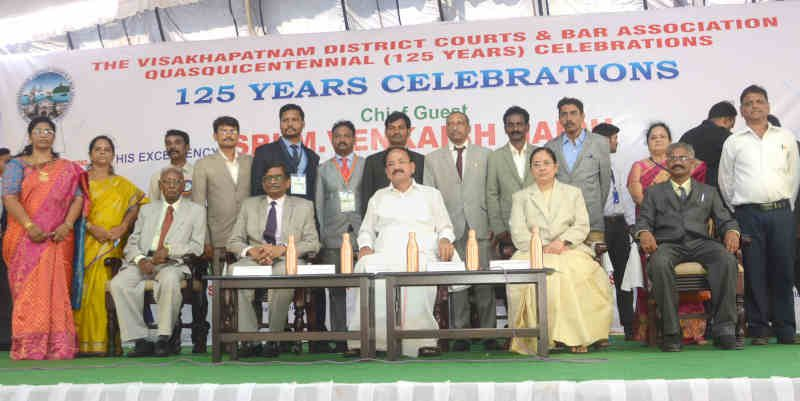 M. Venkaiah Naidu at the 125th anniversary celebrations of Visakhapatnam District Court Bar Association, in Visakhapatnam, Andhra Pradesh on March 30, 2019. Photo: PIB