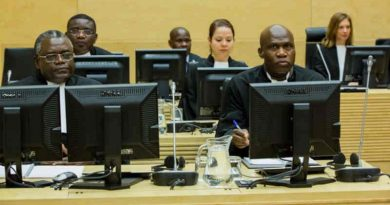 Defence team of Mathieu Ngudjolo Chui in ICC Courtroom I in The Hague. Photo: ICC-CPI (file photo)
