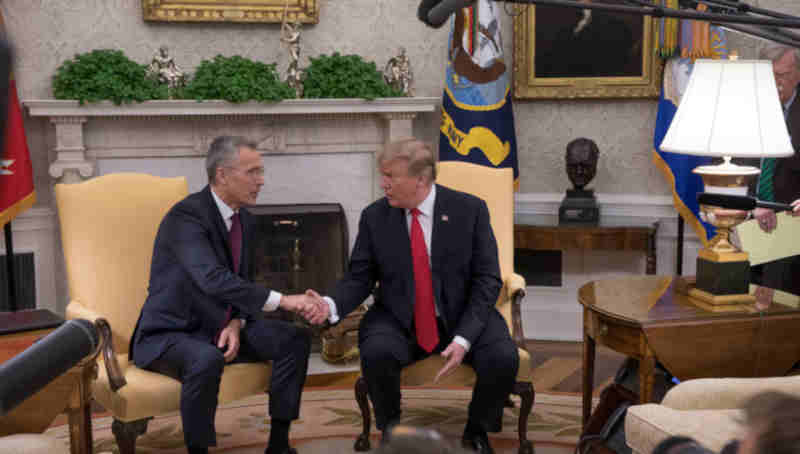 NATO Secretary General Jens Stoltenberg visited the White House on Tuesday (2 April 2019) for a meeting with US President Donald Trump. (file photo)