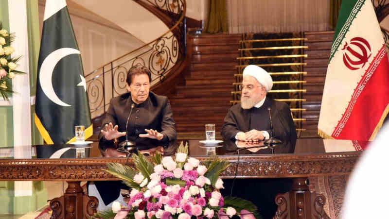Pakistan Prime Minister Imran Khan on a two-day official visit to Iran. Photo: Govt of Pakistan