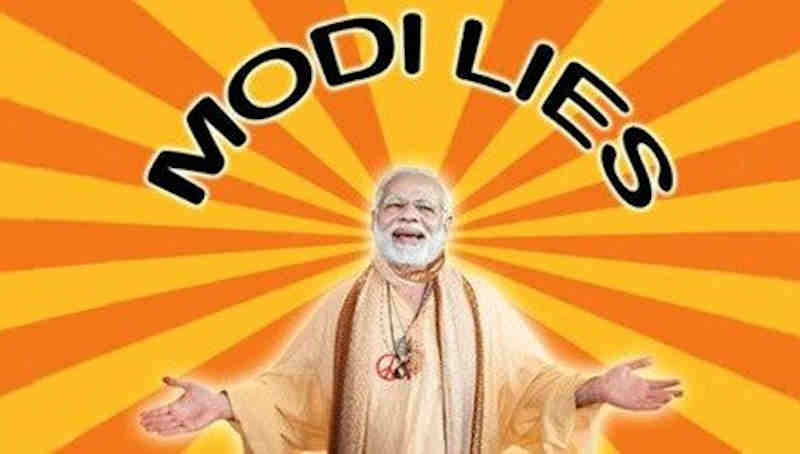 "Congress president Rahul Gandhi said that ""Modilie"" is a new word that describes the constant lies of a person."