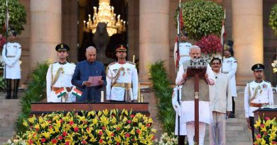 Narendra Modi takes Oath of Office and Secrecy at Rashtrapati Bhavan on May 30, 2019. (file photo) Photo: PIB
