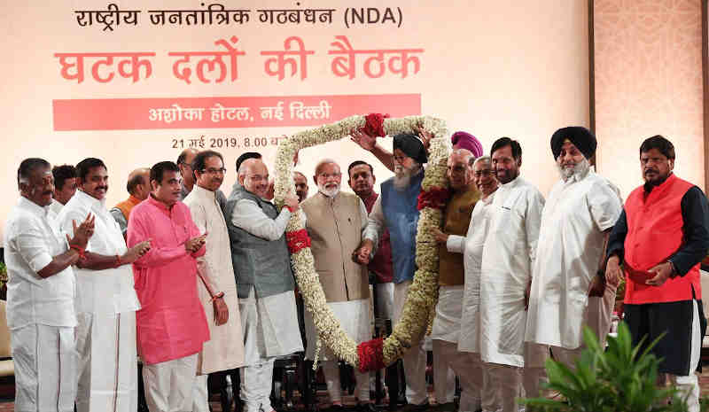BJP-led National Democratic Alliance (NDA) parties meeting on Tuesday, May 21, at New Delhi. Photo: BJP