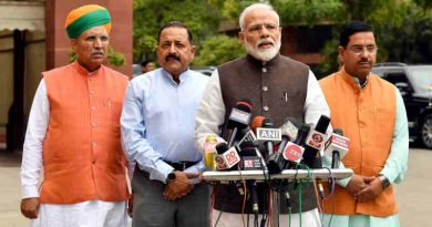 Narendra Modi addressing the media before the start of 17th Lok Sabha, at Parliament House, in New Delhi on June 17, 2019. Photo: PIB