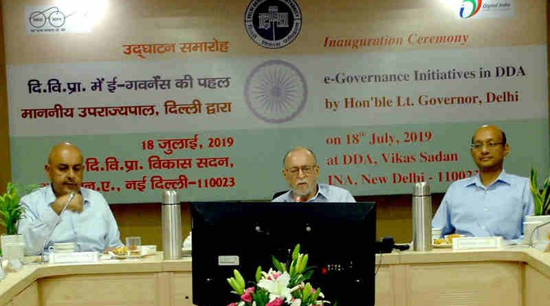 Lt. Governor (LG) of Delhi Anil Baijal – who is also the chairman of DDA – launched a number of e-governance initiative for DDA on July 18. Photo: DDA