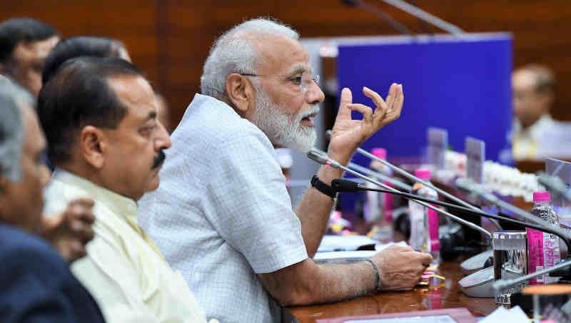 Narendra Modi addressing the Inaugural Session of Assistant Secretaries (IAS Officers of 2017 batch), in New Delhi on July 02, 2019. Photo: PIB