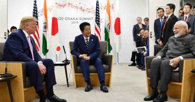 The Prime Minister of India, Narendra Modi with the Prime Minister of Japan, Mr. Shinzo Abe, and the President of United States of America (USA), Mr. Donald Trump in a Trilateral Meeting of JAI (Japan-America-India), on the sidelines of the G-20 Summit, in Osaka, Japan. Photo: PIB (file photo)