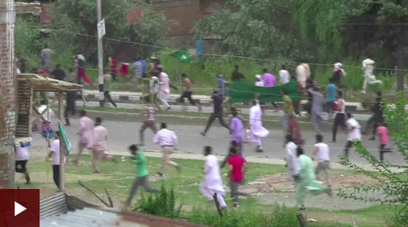BBC Reporting on Violence in Kashmir. Photo: BBC