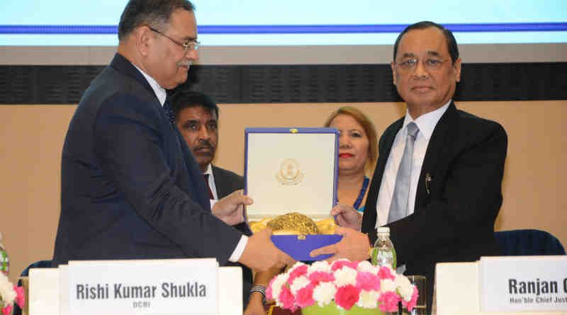 Director of CBI Rishi Kumar Shukla with Chief Justice of India Justice Ranjan Gogoi. Photo: CBI
