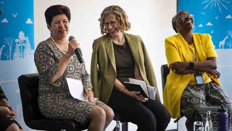 Ivana Farina, Inger Andersen and Elizabeth Mrema Photo by Florian Flussstetter / UN Environment