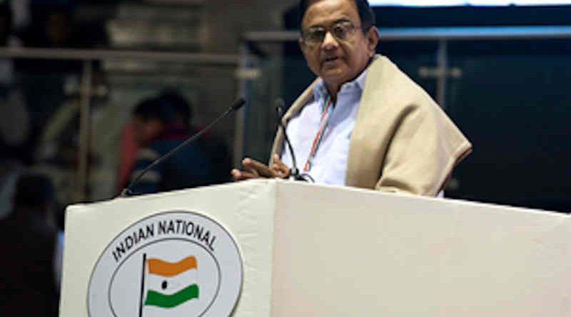 P. Chidambaram. Photo: Congress