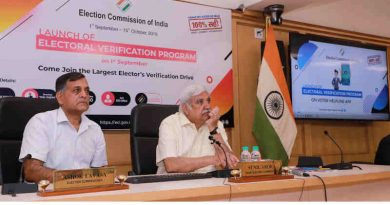 Sunil Arora launching the Electoral Verification Program, in New Delhi on September 01, 2019. Photo: PIB