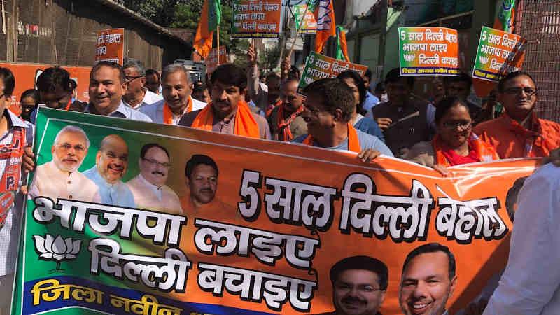 Manoj Tiwari in a BJP Campaign for 2020 Delhi Assembly Election. Photo: BJP