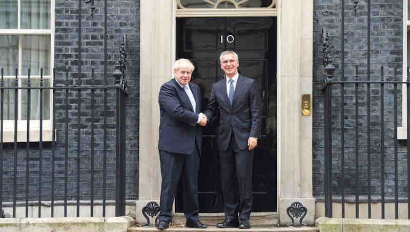 Prime Minister Boris Johnson with NATO Secretary General Jens Stoltenberg. Photo: NATO