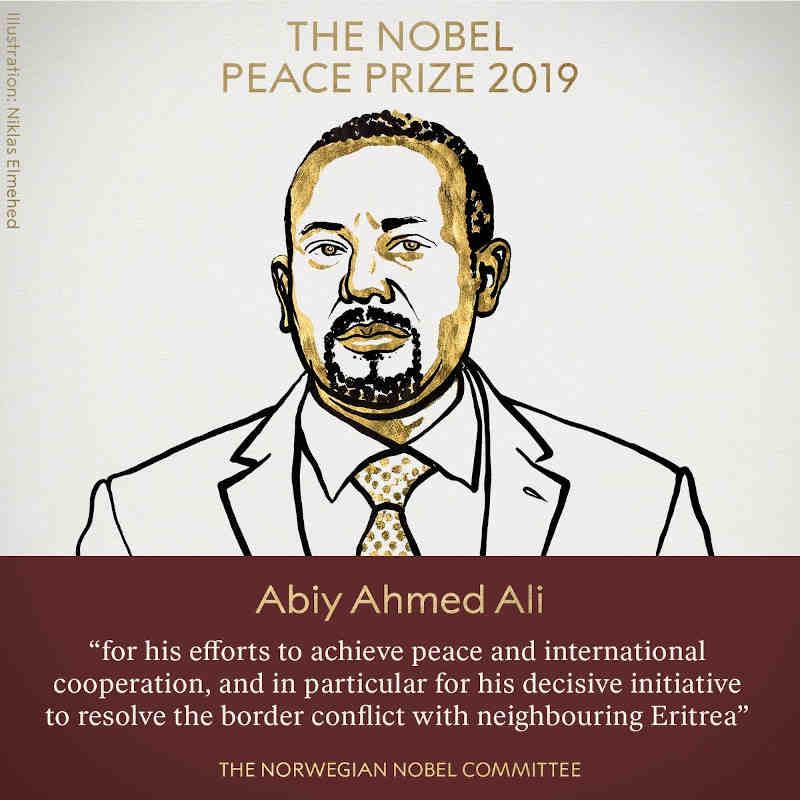 Nobel Peace Prize for Abiy Ahmed Ali