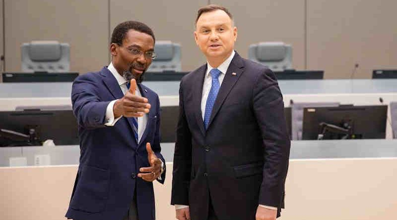 ICC President Judge Chile Eboe-Osuji and Poland President H.E. Andrzej Duda visiting one of the ICC Courtrooms on 30 October 2019. Photo: ICC-CPI
