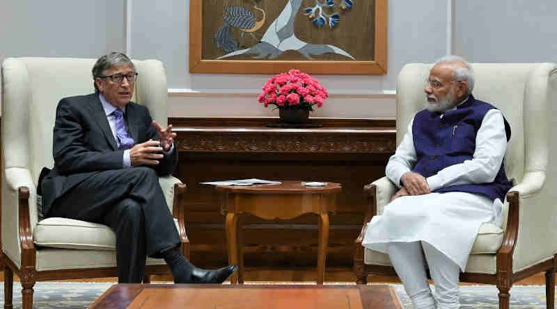 The Co-Chair of the Bill & Melinda Gates Foundation Bill Gates calling on India's Prime Minister Narendra Modi in New Delhi on November 18, 2019. Photo: PIB