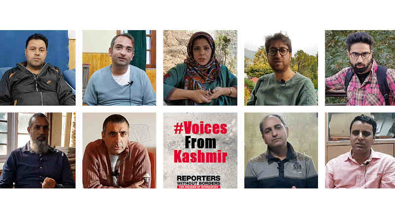 RSF Breaks Silence Forced on Journalists in Kashmir. Photo: RSF