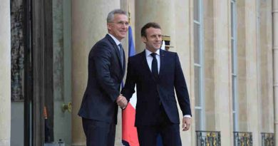 NATO Secretary General Jens Stoltenberg with French President Emmanuel Macron in Paris on 28 November 2019. Photo: NATO