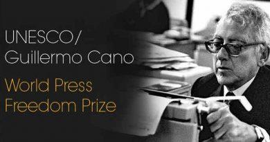 World Press Freedom Prize. Photo: UNESCO