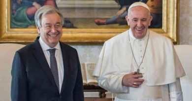 UN Secretary-General António Guterres with Pope Francis. Photo: UN