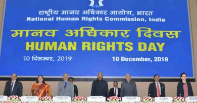 President of India Ram Nath Kovind at the Human Rights Day function organized by the National Human Rights Commission in New Delhi on December 10, 2019. The Chairperson of National Human Rights Commission Justice H.L. Dattu and other dignitaries are also seen. Photo: PIB