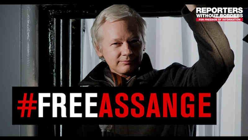 Julian Assange. Photo: RSF