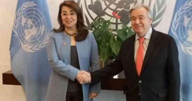 Ghada Fathi Waly with UN Secretary-General António Guterres. Photo: UNODC