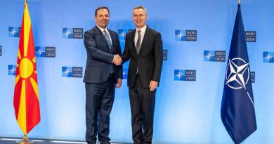 The Prime Minister of the Republic of North Macedonia, Oliver Spasovski visits NATO and meets with NATO Secretary General Jens Stoltenberg. Photo: NATO