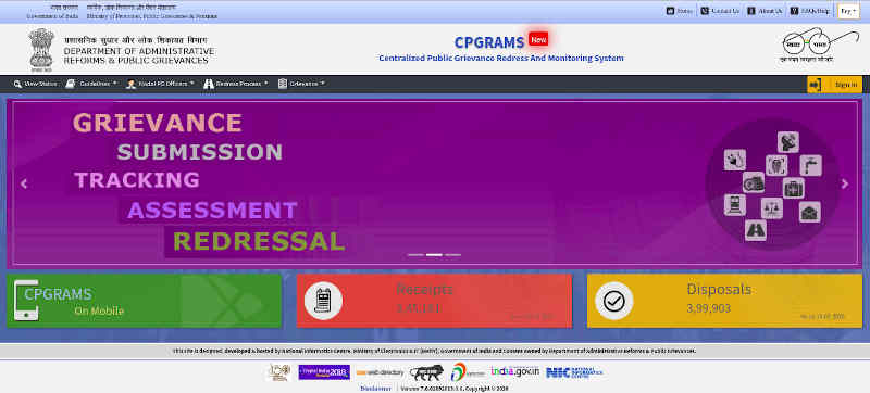 Centralized Public Grievance Redress And Monitoring System