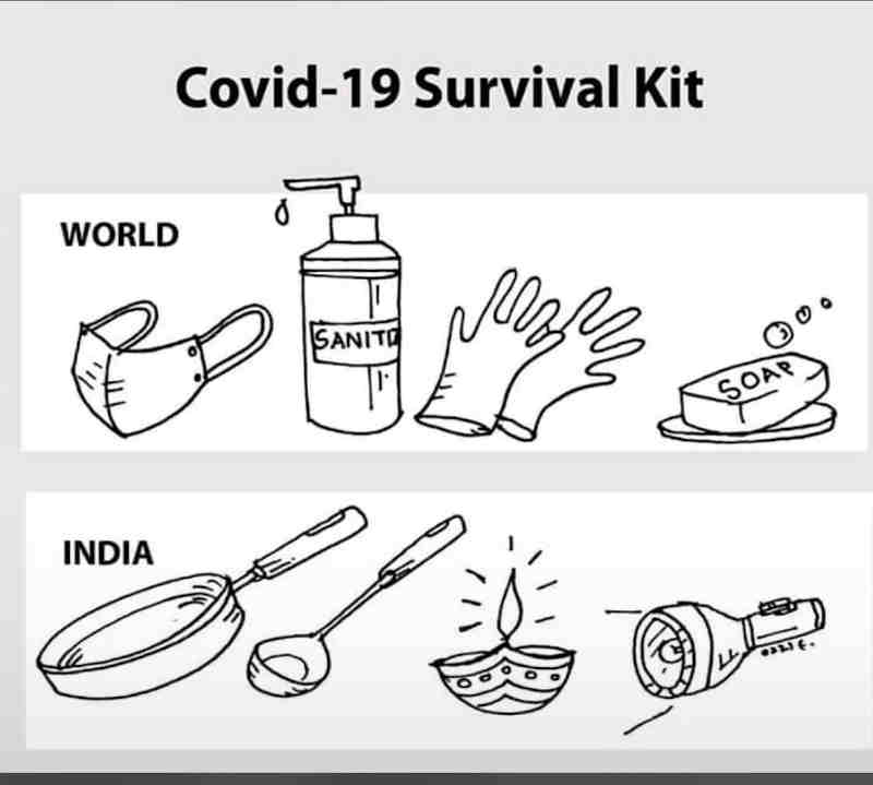 Instead of providing the test and treatment facilities in hospitals and personal protective equipment (PPE) to doctors for treating coronavirus patients, uneducated Modi is asking Indians to hit their kitchen utensils and light candles. Blind Modi followers who do not believe in any kind of scientific reasoning and academic solutions follow Modi's reckless advice while the intellectual class in India is feeling increasingly disturbed with Modi's repeated trickery. Photo: Web