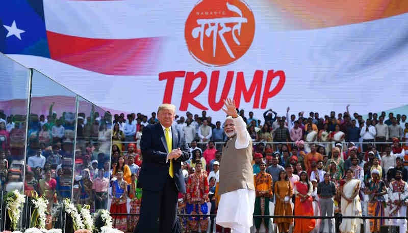 President Donald Trump and PM Narendra Modi at the Namaste Trump event in India on February 24, 2020. Photo: PIB
