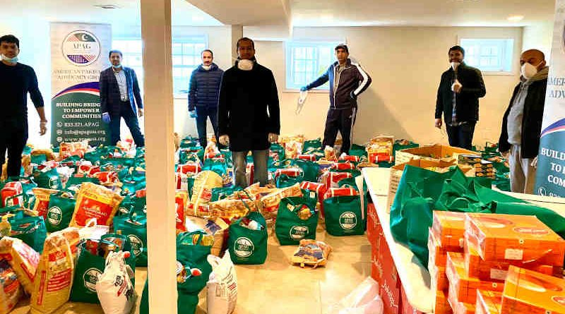 American Pakistani Advocacy Group (APAG) has delivered more than 1,000 groceries packages to elderly, disabled, and financially distressed families in New York. Photo: APAG