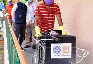 Mobile Indoor Disinfection Sprayer. Photo: CSIR