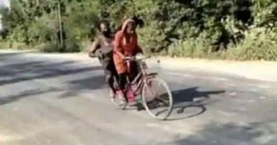 Indian girl Jyoti Kumari who carried her wounded father on a bicycle to reach their village during Covid lockdown. Photo: Web