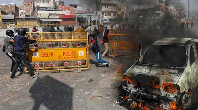 A scene of riots in Delhi. Photo: Reuters