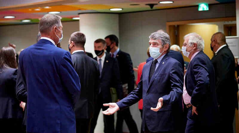 David Sassoli at the EU Summit. Photo: European Parliament