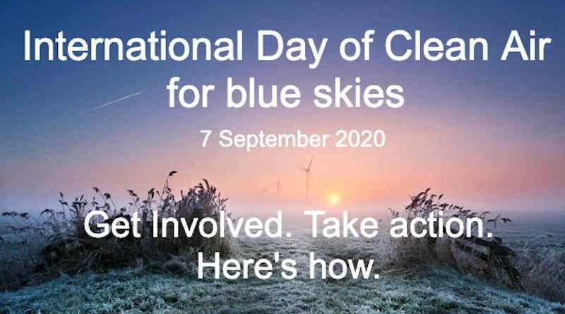 International Day of Clean Air for Blue Skies. Photo: WMO / Anna Zuidema