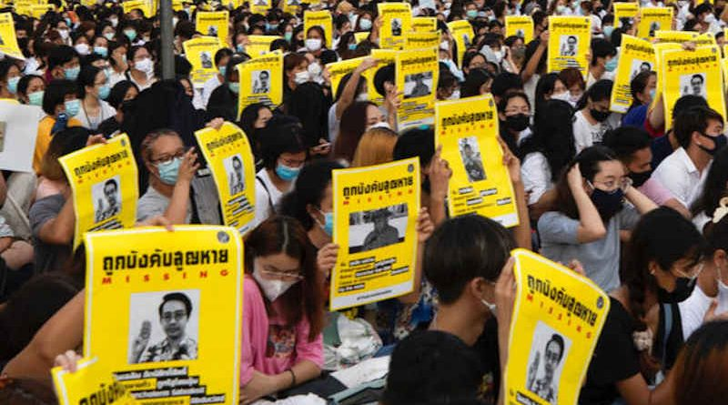 Thai students risk jail with calls to curb monarchy's power. Photo: Freedom for Thai group