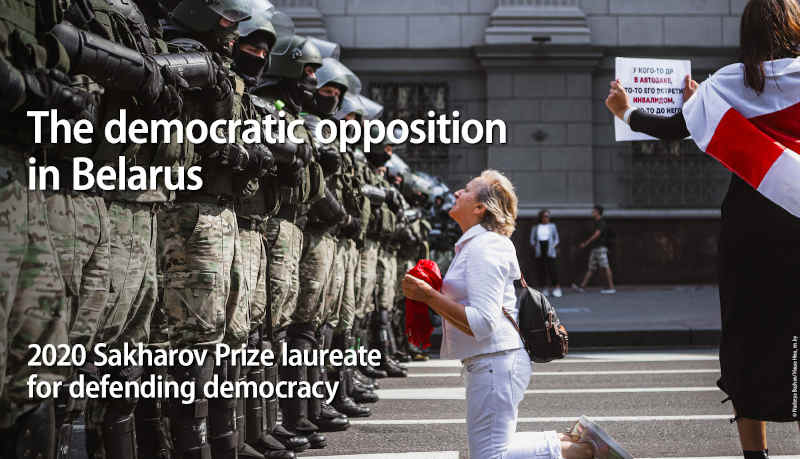 Democratic forces in Belarus have been protesting the brutal regime since August 2020. Photo: European Parliament