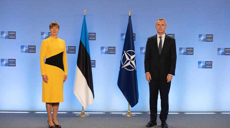 President of Estonia Kersti Kaljulaid with NATO Secretary General Jens Stoltenberg. Photo: NATO
