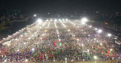 Pakistan Democratic Movement Jalsa in Karachi on October 18, 2020. Photo: Pakistan Muslim League (Nawaz)