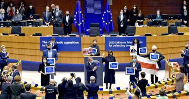 Award ceremony for the 2020 Sakharov Prize. Photo: European Parliament