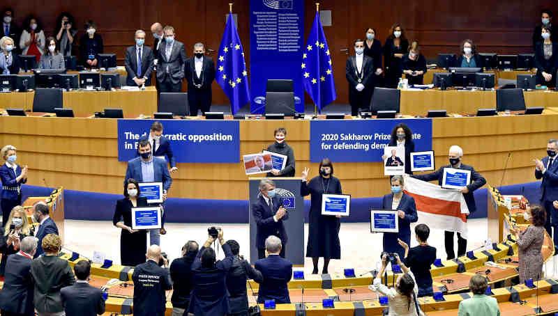 Award ceremony for the 2020 Sakharov Prize. Photo: European Parliament