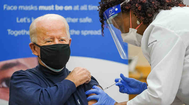 U.S. President-elect Joe Biden receiving Covid-19 vaccine on December 21, 2020. Photo: Joe Biden / Twitter