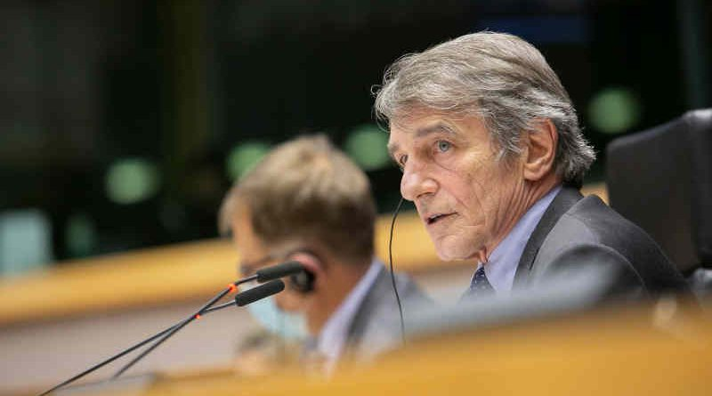 European Parliament President David Sassoli opening the first plenary session of 2021. Photo: European Union 2021, EP