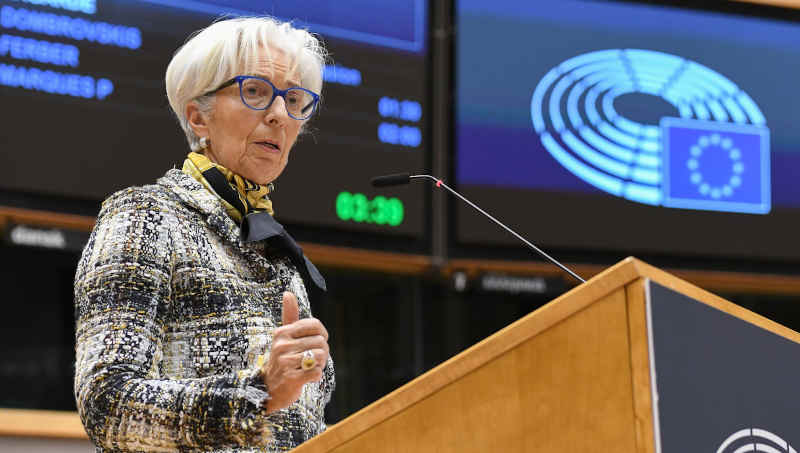 MEPs have told ECB President Christine Lagarde to do what it takes within the ECB's mandate to stem the difficult times ahead. Photo: European Parliament