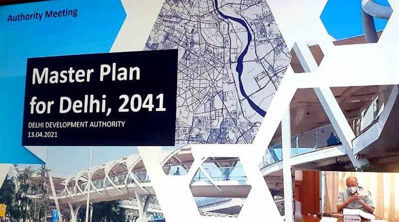 Draft Master Plan of Delhi 2041. Photo: LG Office